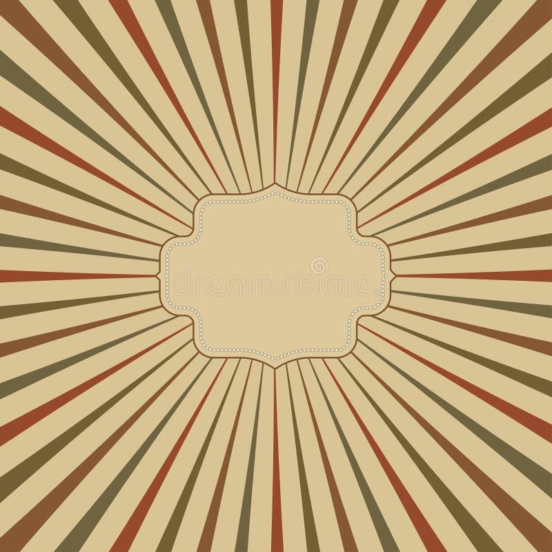 rocznika tło z miejscem dla imię wektoru royalty ilustracja