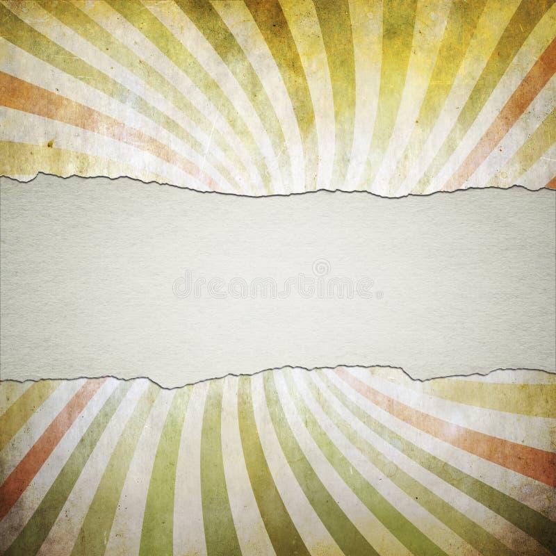 Rocznika tło z sunbeams i tekst przestrzenią obrazy stock