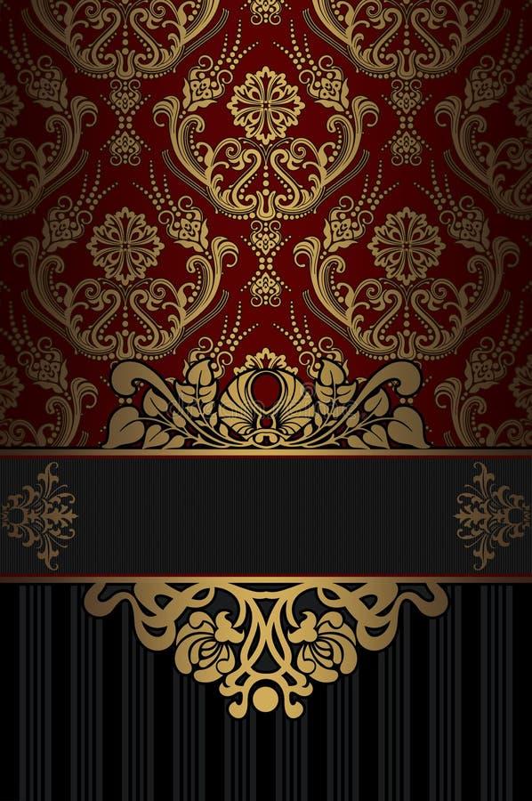 Download Rocznika Tło Z Dekoracyjnymi Wzorami Ilustracji - Ilustracja złożonej z fasonujący, roczniki: 65225374