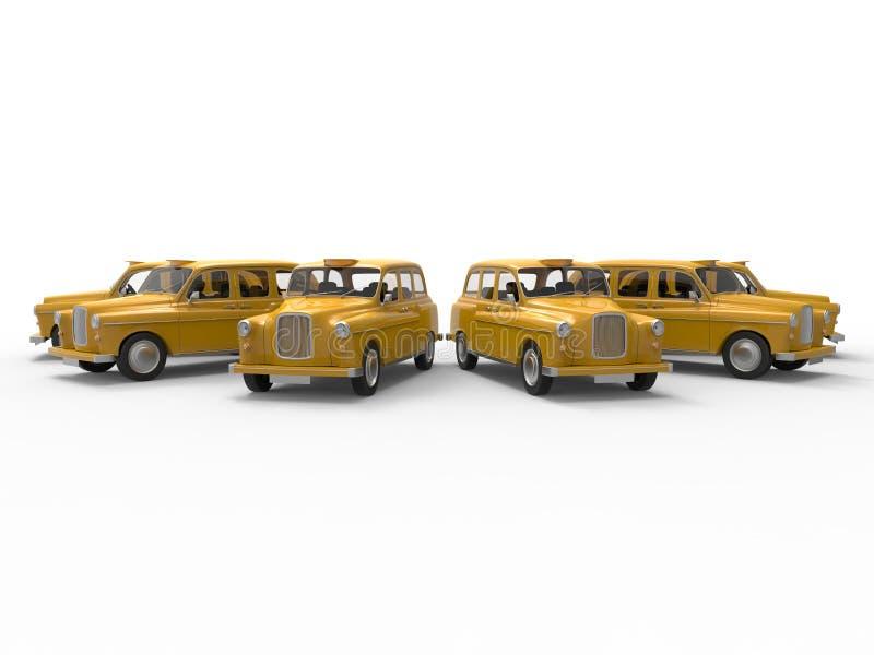 Rocznika taxi floty pojęcie royalty ilustracja