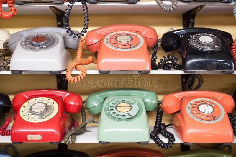 Rocznika telefon fotografia stock