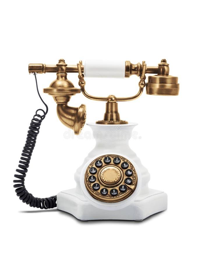 rocznika telefoniczny biel fotografia royalty free