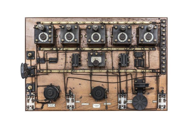 Rocznika telefoniczny switchboard fotografia stock