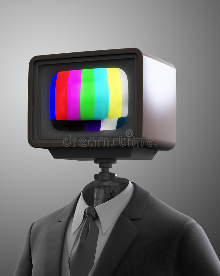 Rocznika telewizoru robot royalty ilustracja