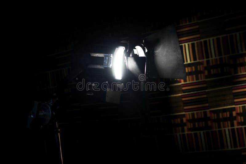 Rocznika Theatre punktu światło W studiu zdjęcie royalty free