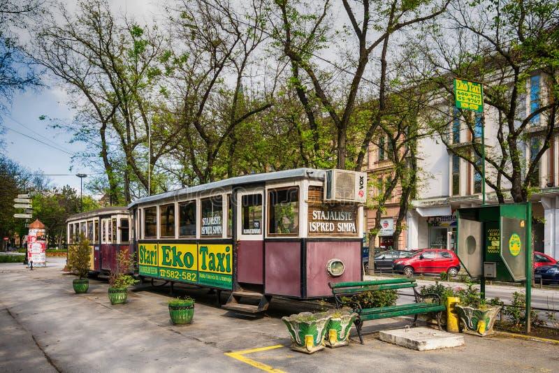Rocznika tramwaj w Subotica miasteczku, Serbia zdjęcie royalty free
