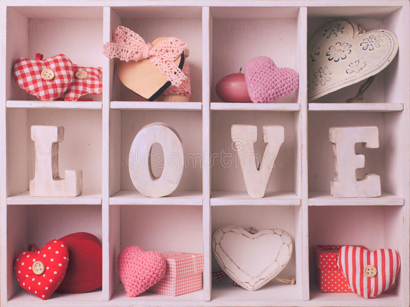 Rocznika valentine set obraz royalty free