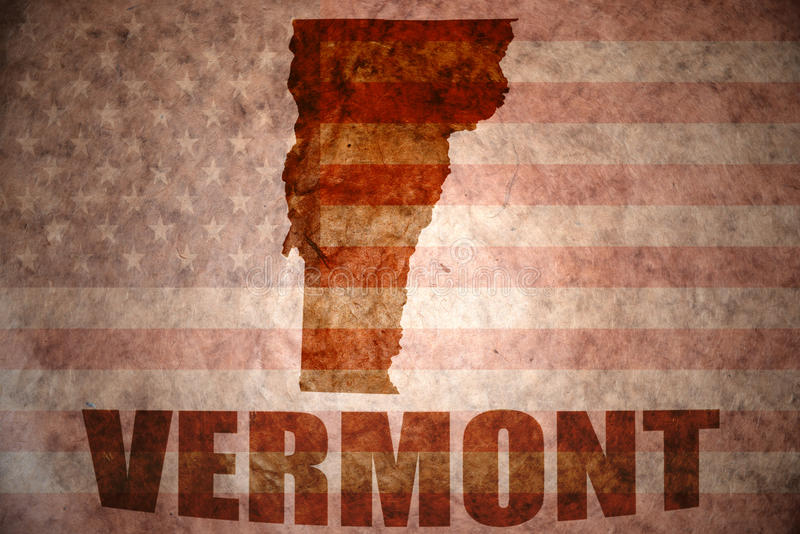 Rocznika Vermont mapa obrazy royalty free