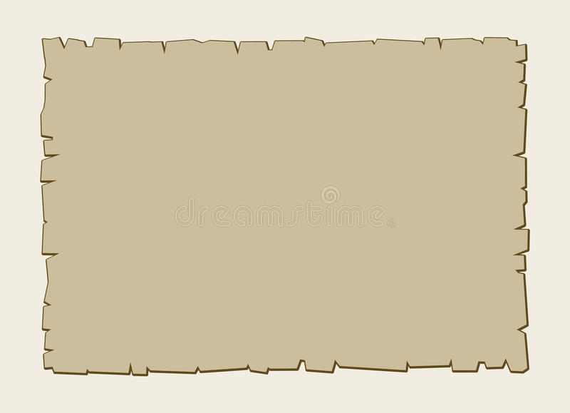 Rocznika wektorowy brown pergaminowy tło ilustracja wektor