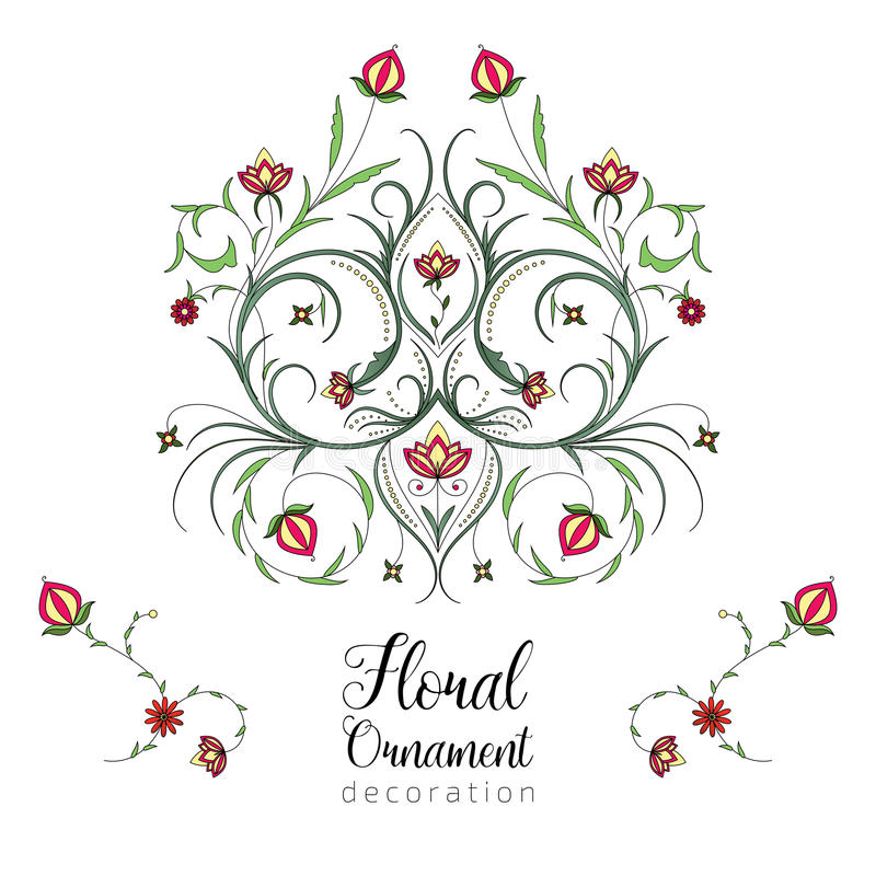 Rocznika wektorowy kwiecisty ornament dla zaproszeń ślub, rocznica, kartka z pozdrowieniami royalty ilustracja