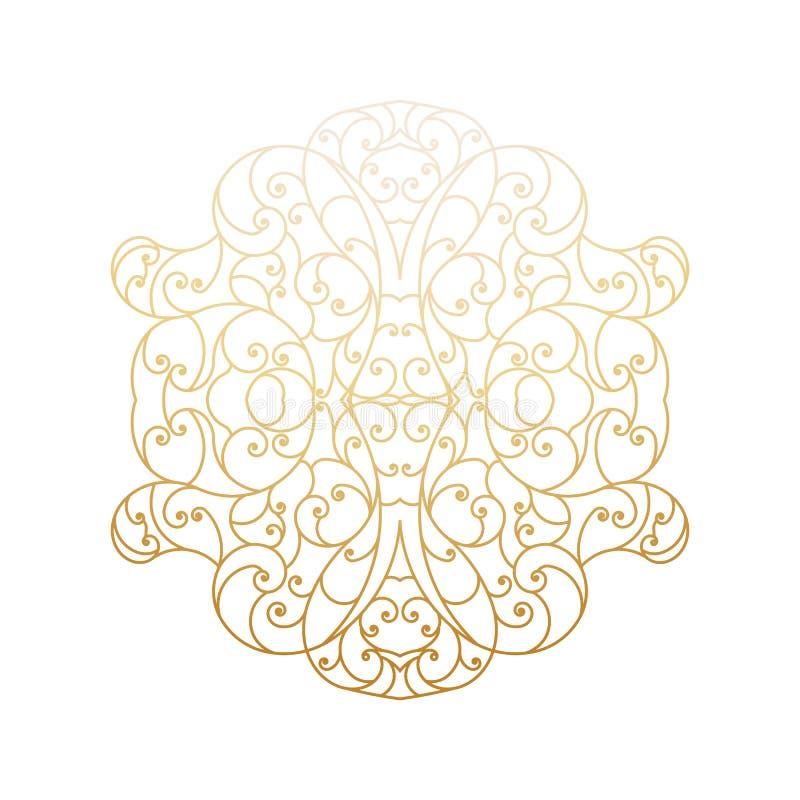 Rocznika wektorowy tło z dekoracyjnymi kwiecistymi elementami royalty ilustracja