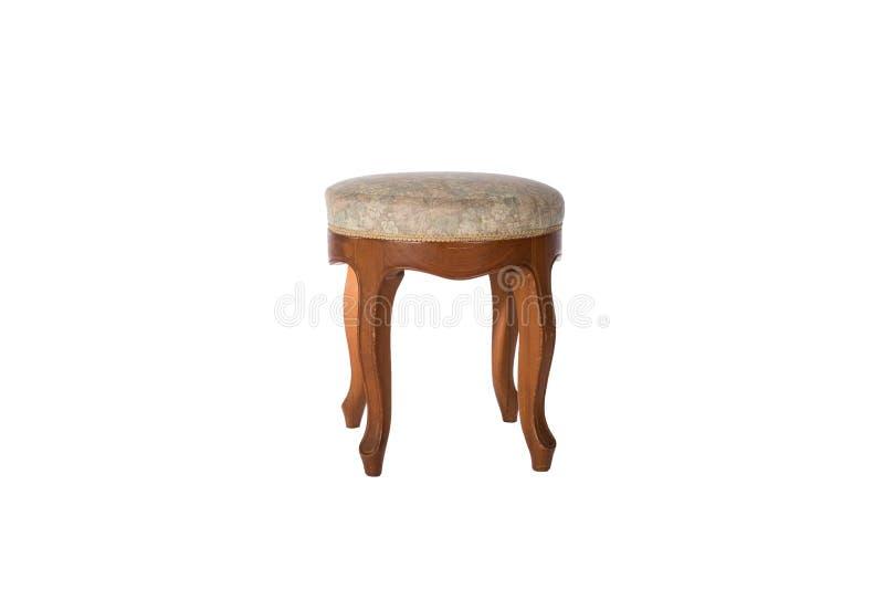 Rocznika wezgłowia stolec krzesło odizolowywający obraz stock