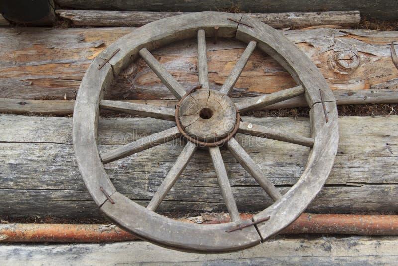 Rocznika Wiejski koło zdjęcia stock