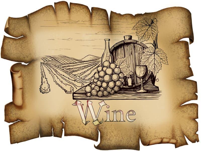 Rocznika wina etykietka ilustracji