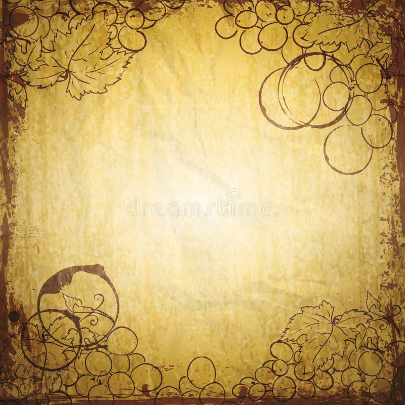 Rocznika wina papier ilustracji