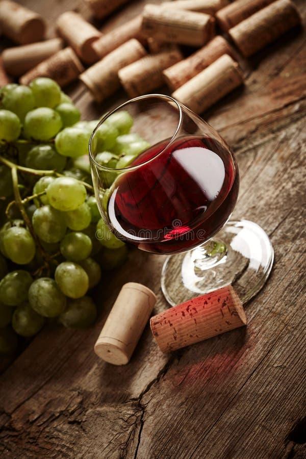 Rocznika wina wciąż życie obraz stock