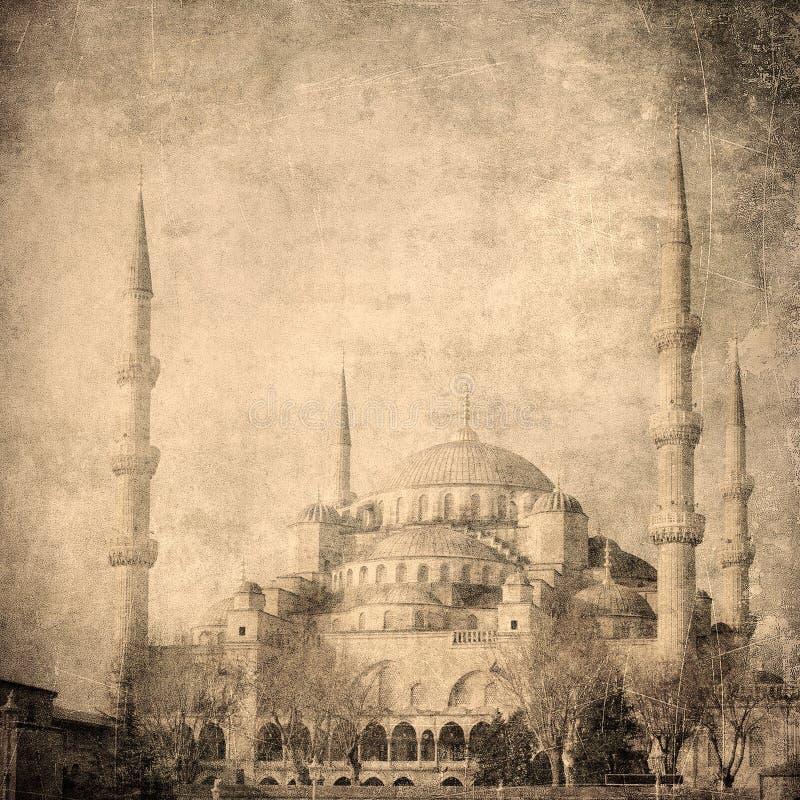 Rocznika wizerunek Błękitny meczet, Istambul zdjęcie stock
