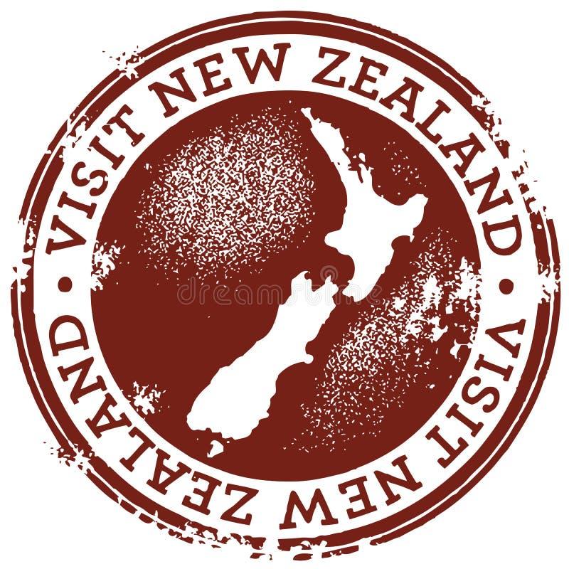Rocznika Wizyty Nowa Zelandia Znaczek royalty ilustracja
