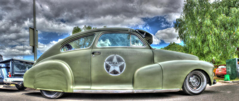 Rocznika wojska terenu 51 Amerykański samochód obraz stock