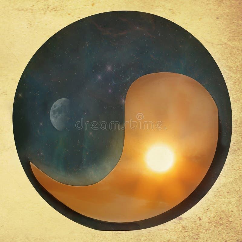 Rocznika yin Yang tło obrazy royalty free