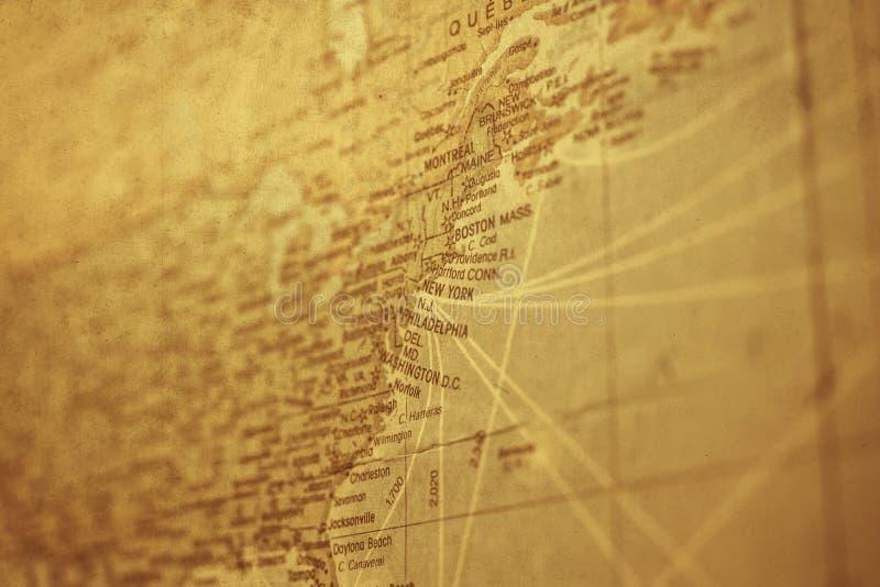 Rocznika York Nowa mapa z starym grunge papierem zdjęcie stock