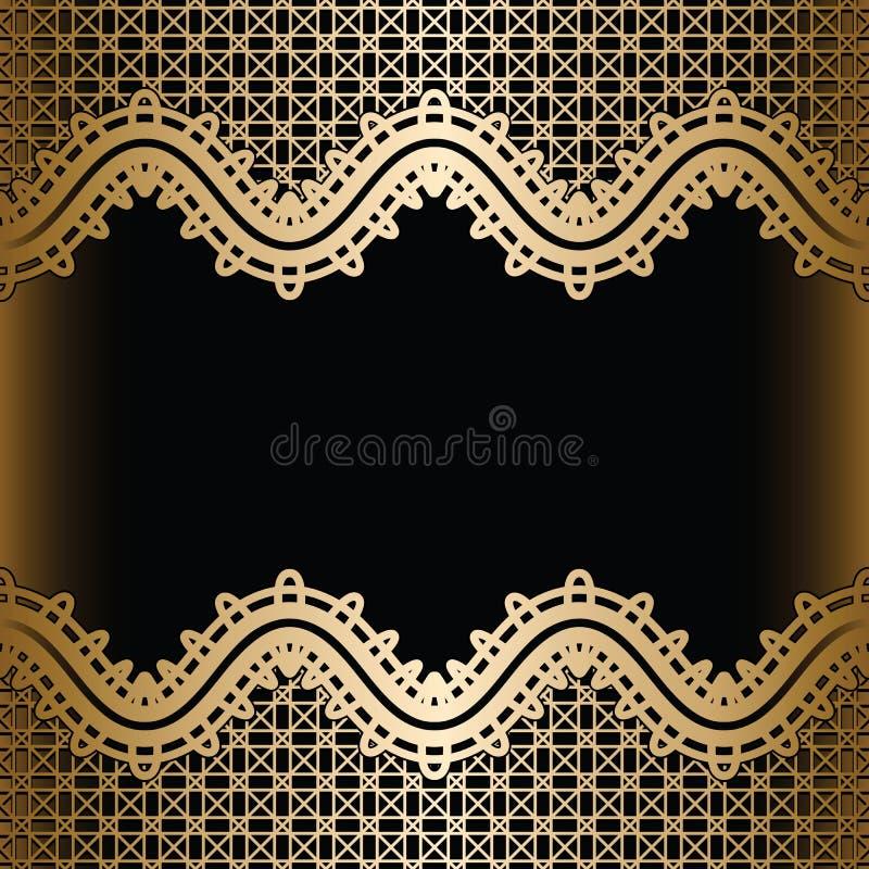 Rocznika złota koronki tło royalty ilustracja