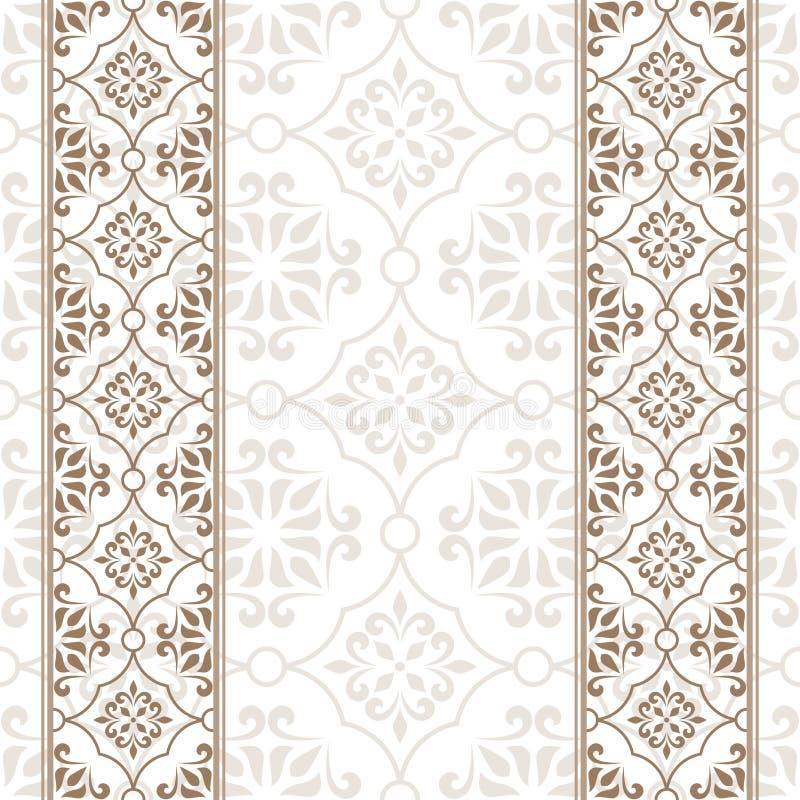 Rocznika zaproszenia karta z beżowym ornamentem royalty ilustracja
