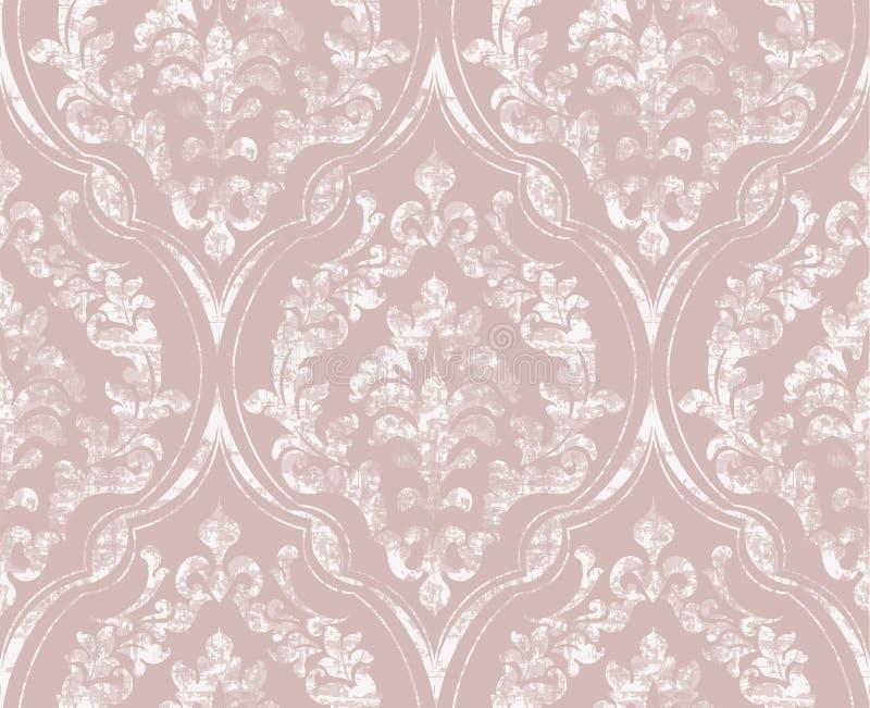 Rocznika zawijas ornamentujący deseniowy wektor Wiktoriańska Królewska tekstura projekta dekoracyjny kwiat Lekkiego koloru wystro royalty ilustracja