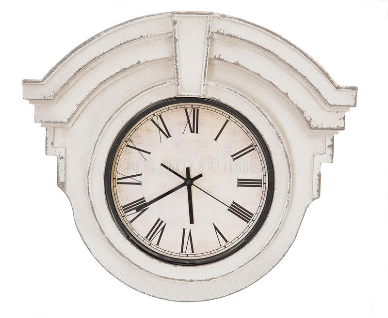 Rocznika zegar odizolowywający obraz royalty free