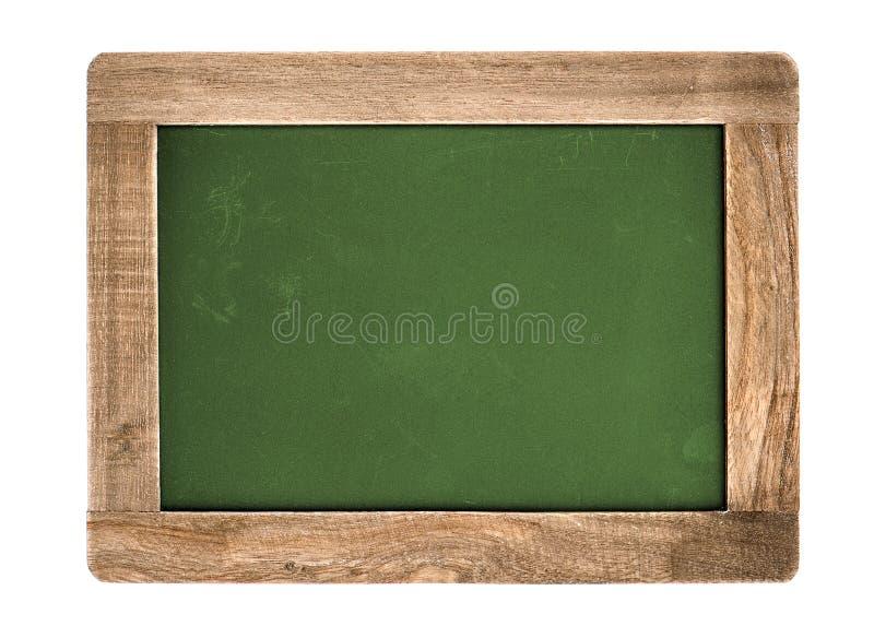 Rocznika zielony chalkboard odizolowywający na bielu fotografia stock