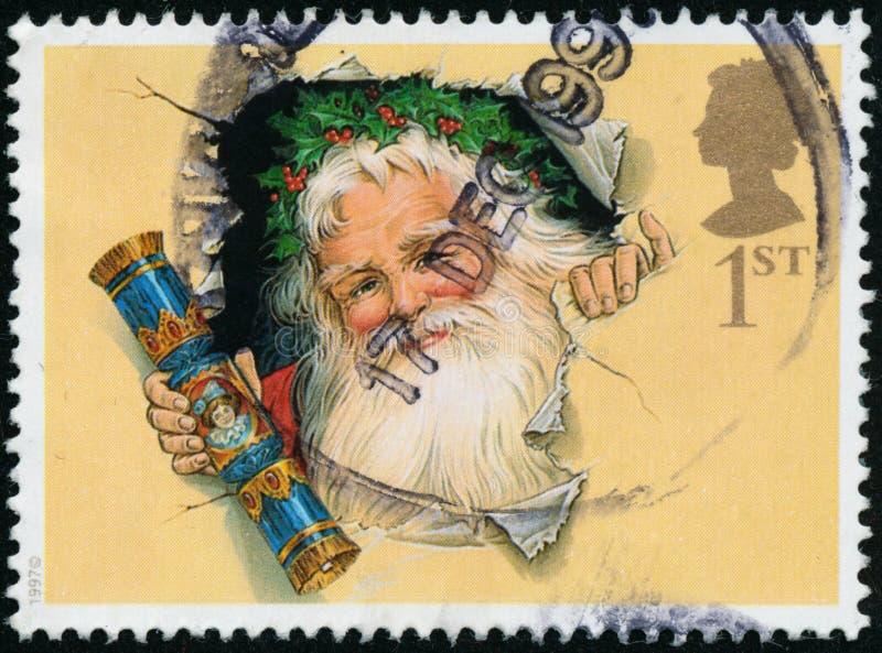 Rocznika znaczek drukujący w Wielkim Brytania 1997 pokazuje boże narodzenia zdjęcia stock