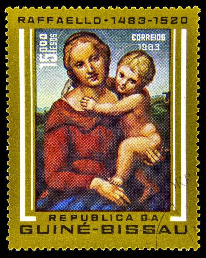 Rocznika znaczek pocztowy Od Bissau zdjęcia royalty free