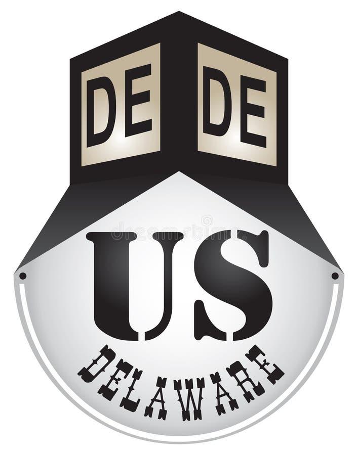 Rocznika znak uliczny dla Delaware zdjęcia royalty free