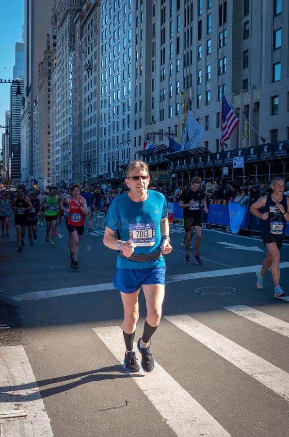 Roczny Miasto Nowy Jork maraton obrazy royalty free