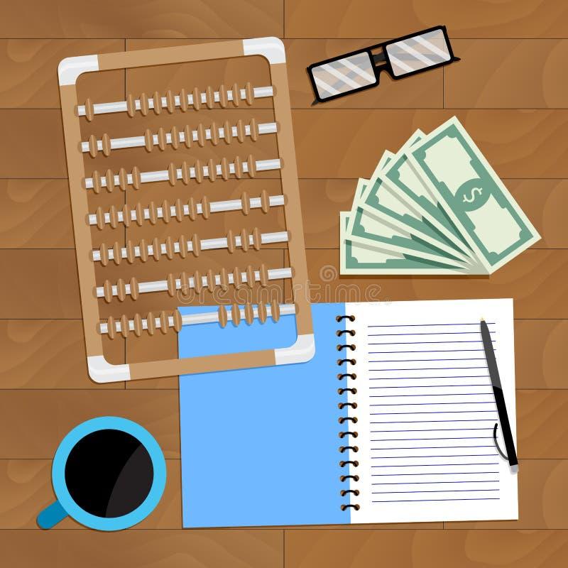 Roczny planowanie budżet ilustracji