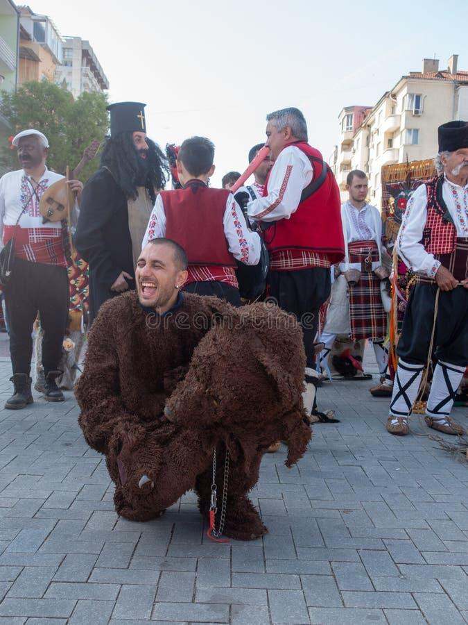 Roczny wiosna karnawał w Varna, Bułgaria obraz royalty free