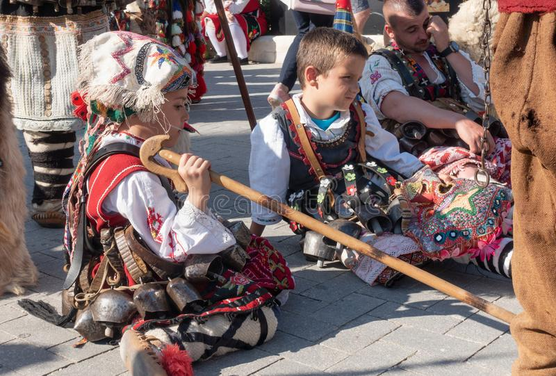 Roczny wiosna karnawał w Varna, Bułgaria obrazy royalty free