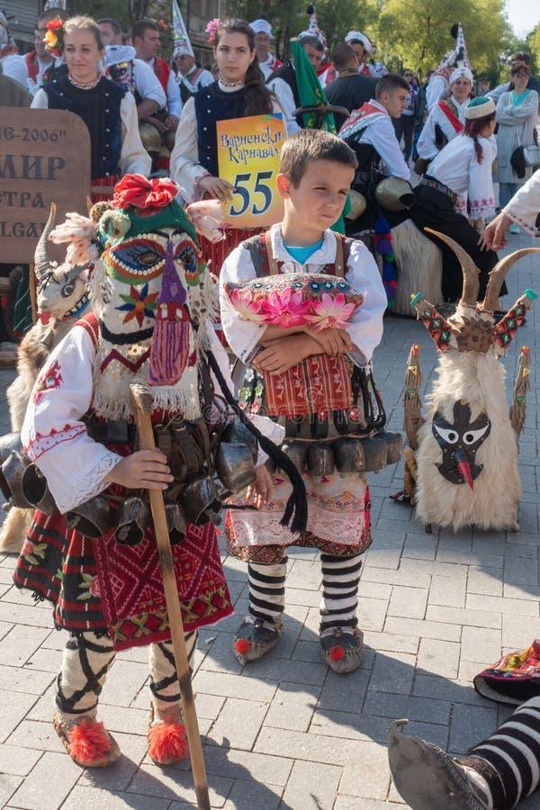 Roczny wiosna karnawał w Varna, Bułgaria fotografia stock