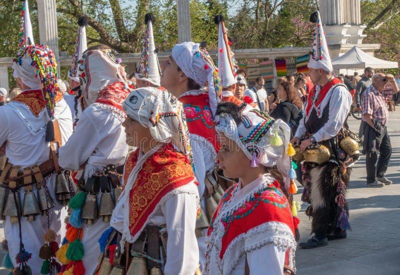 Roczny wiosna karnawał w Varna, Bułgaria zdjęcia stock