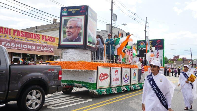 2015 rocznych India dnia parad w Edison, Nowym - bydło obraz royalty free