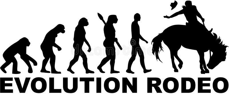 Rodéo d'évolution illustration stock