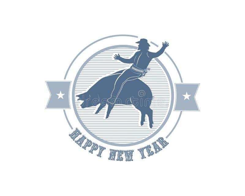 Rodéo de nouvelle année illustration stock