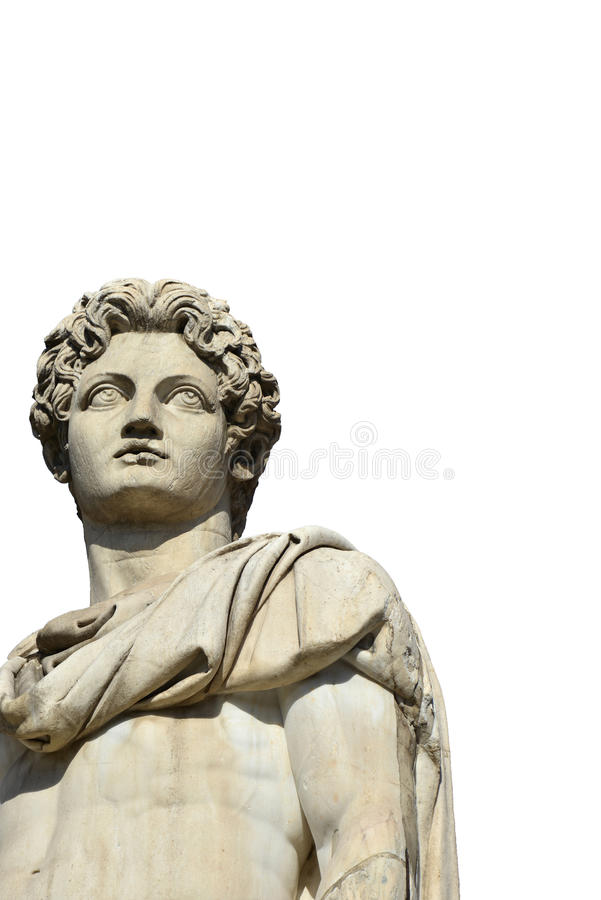 Rodízio ou Pollux com fundo do espaço e do branco da cópia imagens de stock