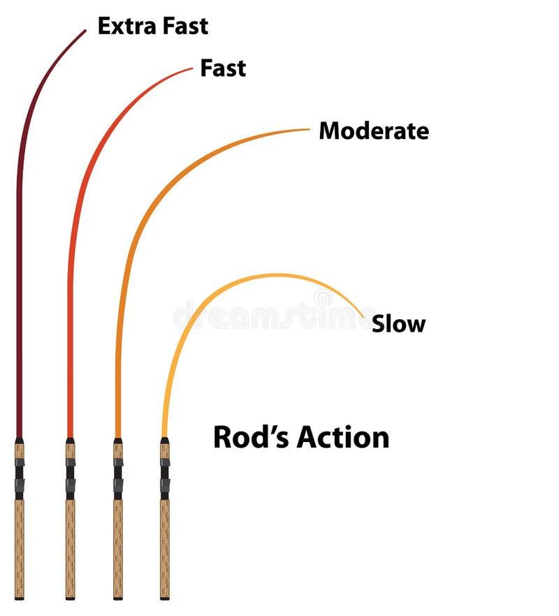 Rod-Aktionsdiagrammeigenschaften stock abbildung