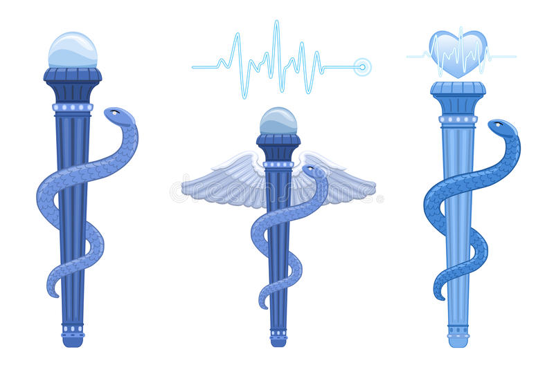 Download Rod Of Asclepius And Caduceus - Medical Symbol Royalty Free Stock Photography - Image: 25013277