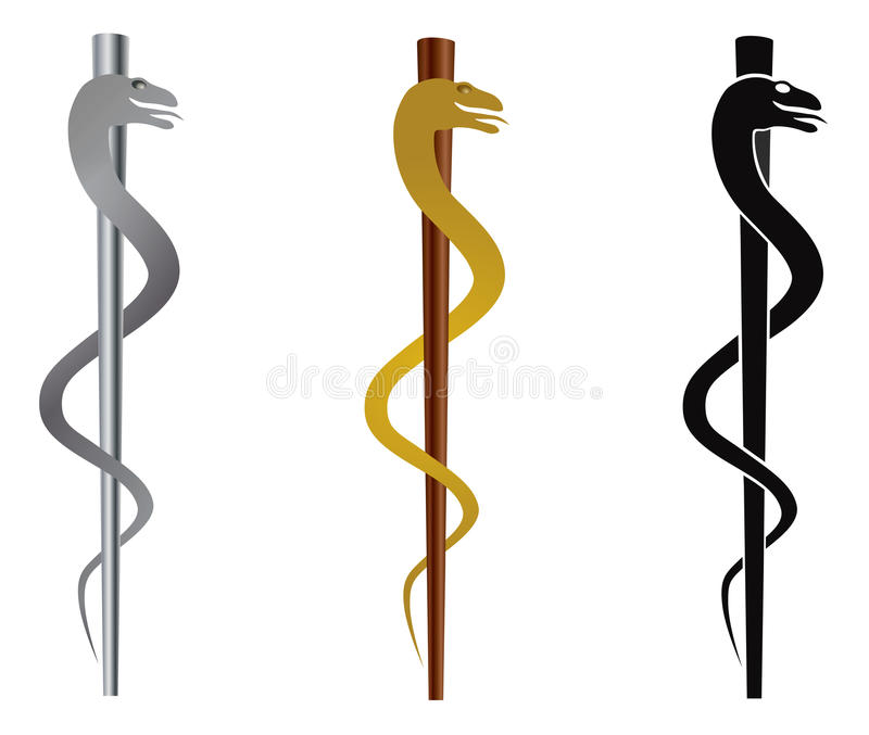 Rod Of Asclepius Illustration Stock Vector Illustration Of Pole