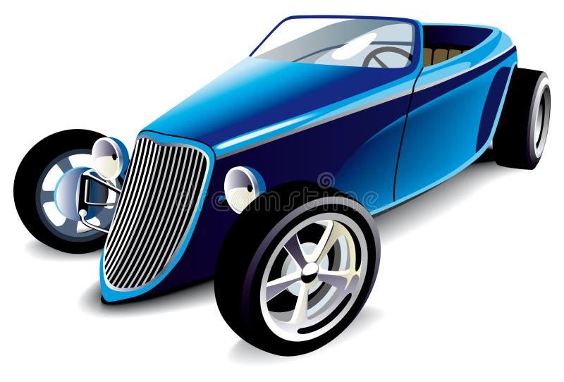 Rod caldo blu illustrazione di stock