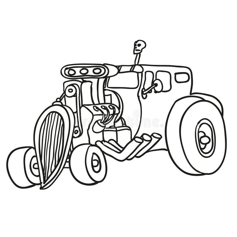 Rod caldo Illustrazione di vettore illustrazione di stock