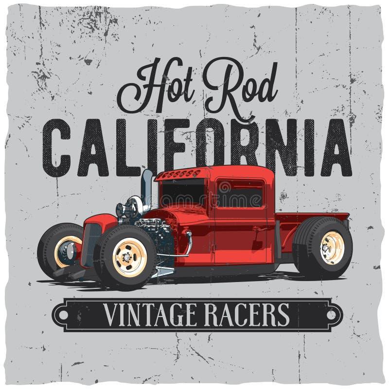 Rod California Vintage Poster caliente libre illustration