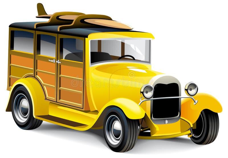Rod chaud jaune illustration stock